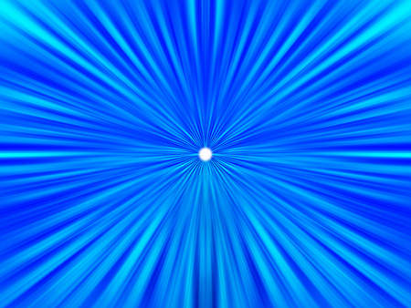Blue teleport with distant star illustration background Stock Photo