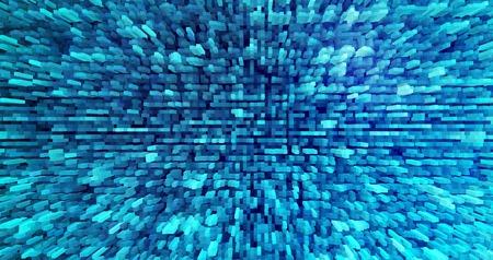 extruded: Horizontal cyan extruded blocks background illustration Stock Photo