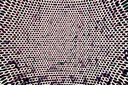 grid background: Warm cyberspace grid bokeh background Stock Photo