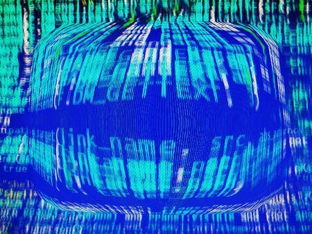 crt: Computer matrix background  hd Stock Photo