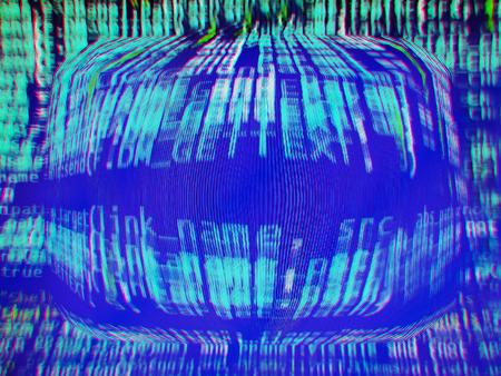 crt: Abstract computer screen backdrop Stock Photo