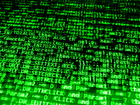 computer code: Diagonal green computer code background hd