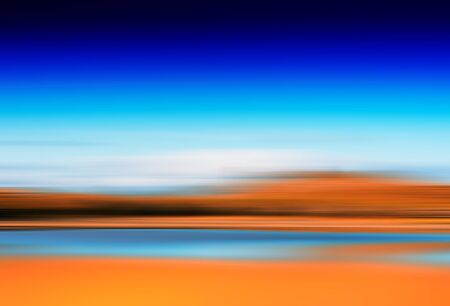 Horizontal motion blur autumn lake background hd Stock Photo