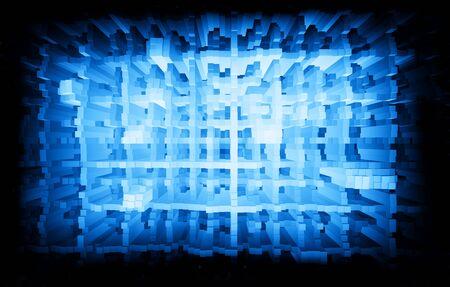 city background: Blue matrix city skyscrapers illustration background hd