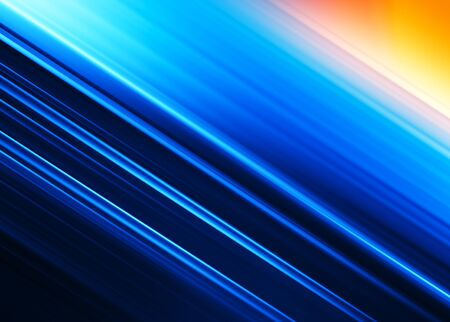 Diagonal blue motion blur ocean with sun background hd Stock Photo