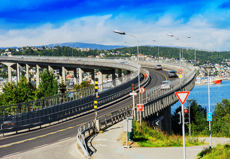 lacet: Tromso lacet transport bridge background hd