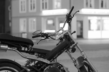 Moto bike in Tromso background hd