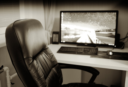 office backdrop. Office Working Place With Computer Monitor And Chair Backdrop Hd Stock  Photo - 66249318 Office E