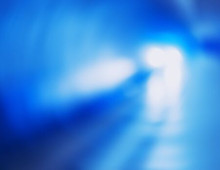 Diagonal metro train with blue lights bokeh background hd