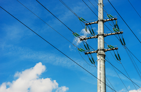 Norway power line background hd Stock Photo