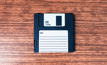 Vintage floppy disc background hd Stock Photo