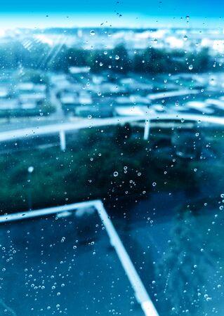 Waterdrops on window background hd