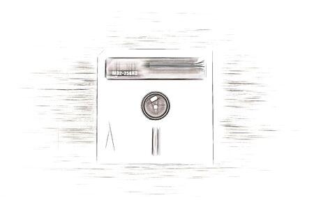 Vintage floppy disc illustration hd