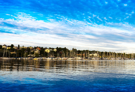 Oslo yacht club landscape background hd Stock Photo