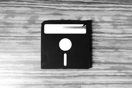 fdd: Vintage floppy disc illustration hd