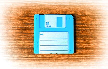 fdd: Vintage cyan floppy disc illustration hd