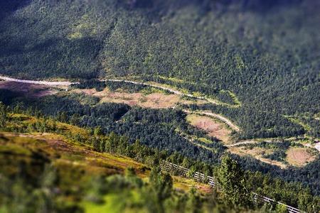 oslo: Norway mountain roads bokeh background hd