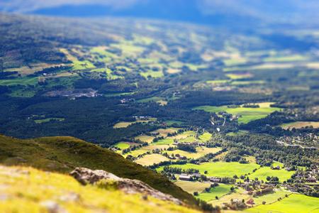 oslo: Oppdal mountain valley landscape bokeh background hd