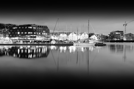 oslo: Black and white Norway city background hd