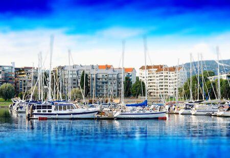 oslo: Oslo yacht club near coast background hd