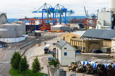 oslo: Oslo transportation port background hd Stock Photo