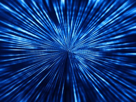 Blue space teleport blast illustration background Stock Photo
