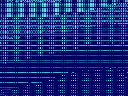 Horizontal blue pixel landscape illustration background