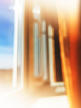inddor: Vertical windows bokeh background