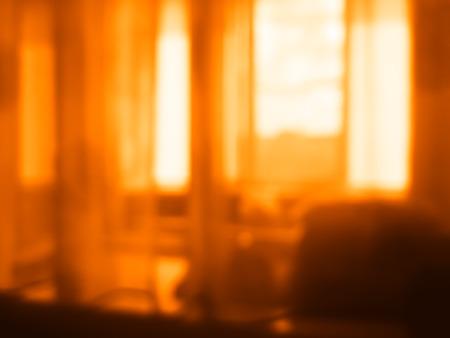inddor: Indoor sunset window bokeh background
