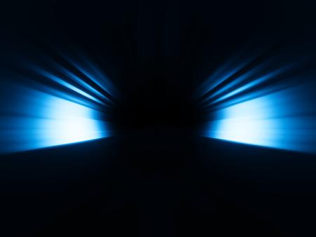 Diagonal blue rays bokeh background
