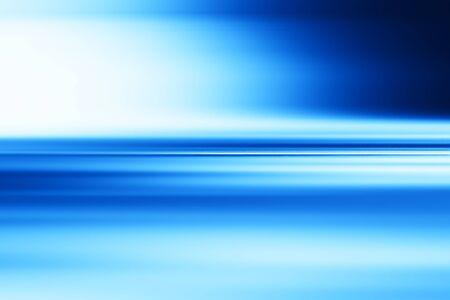 Horizontal blue motion blur surface background Stock Photo