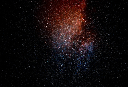 Space galaxies on night sky background