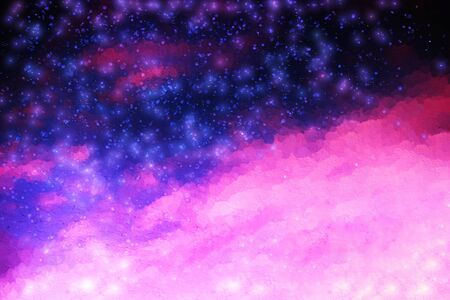 leaking: Pink and purple night stars illustration background
