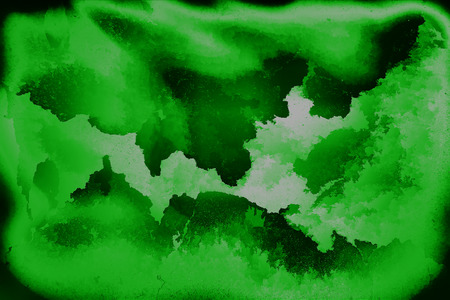 Teared green film scan paper background Stock Photo
