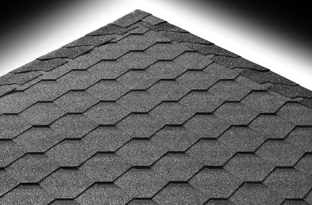 Roof pyramid tiles with gradient sky background Stock Photo