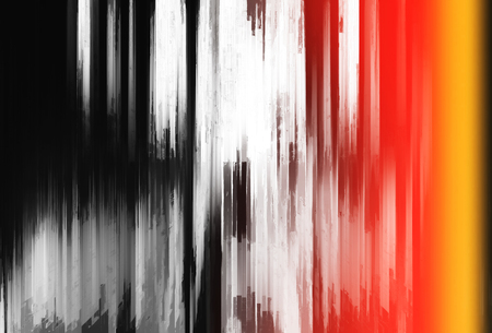 Abstract vertical bars painting with light leak Stock Photo
