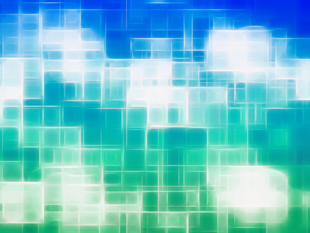 Horizontal blue and green canvas texture element Stock Photo