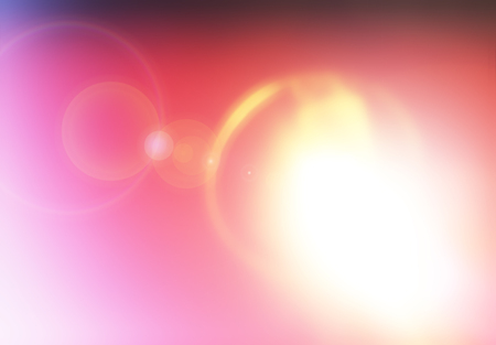 Abstract sun sphere light leak with flare background