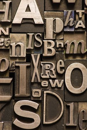 A random arrangement of letterpress letters