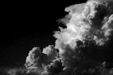 inclement: A black and white shot of thunderstorm clouds