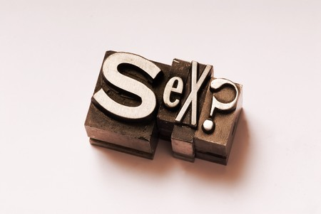 The word Sex done in letterpress type