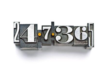 implacable: La formule fait en 24-7-365 letterpress type vintage
