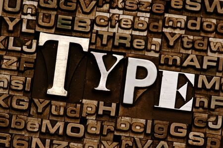 The word Type done in letterpress type Stock Photo - 4066041