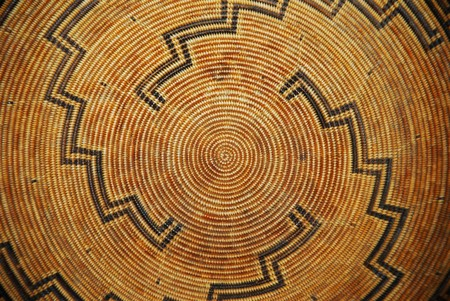 indian artifacts: A Native American woven basket pattern