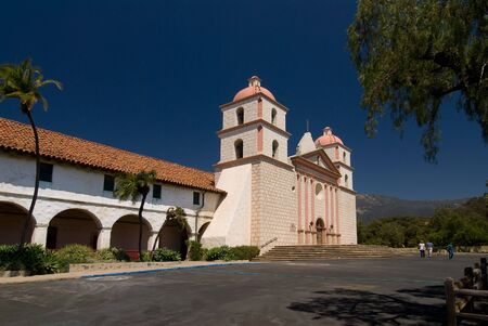 Photo of the historic Santa Barbara Mission in Southern California