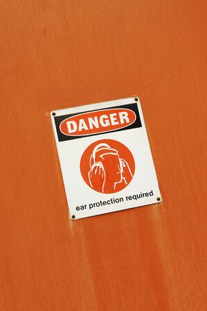 Danger - Ear Protection Required sign