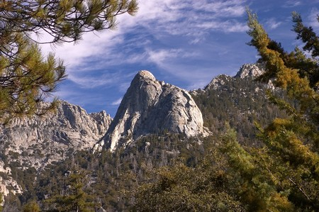Tahquitz Rock, Idyllwild, San Jacinto mountains, Riverside County, Southern California, United States