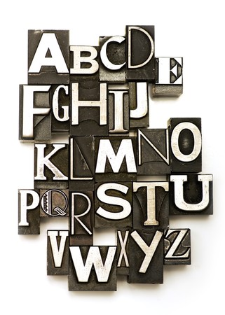 Alphabet photographed using a mix of vintage letterpress characters. Cross-proccessed for a vintage look. Stock Photo - 4229206