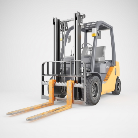 Forklift truck isolated Stock Photo - 17036976