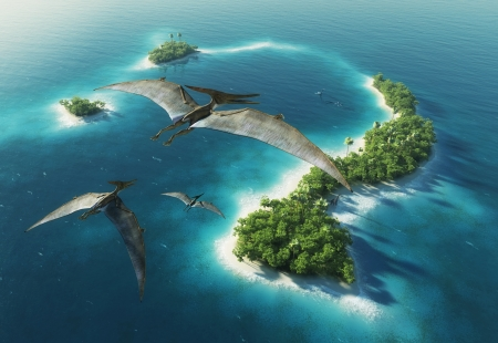 Dinosaurs natuurpark Jurassic Period